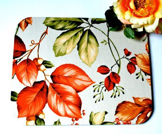 Mousepad Blätter Untersetzer Ablage handmade von Arsunica auf Etsy, €11.00
