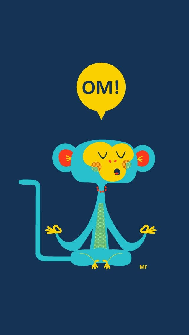 Cute Meditating Monkey iPhone Wallpaper