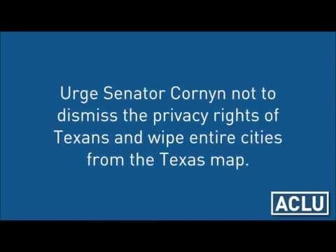 ▶ U.S. Senator John Cornyn (RINO-TX) on WHY DRONES SHOULD  spy over 125,000+ square miles of Texas. - YouTube