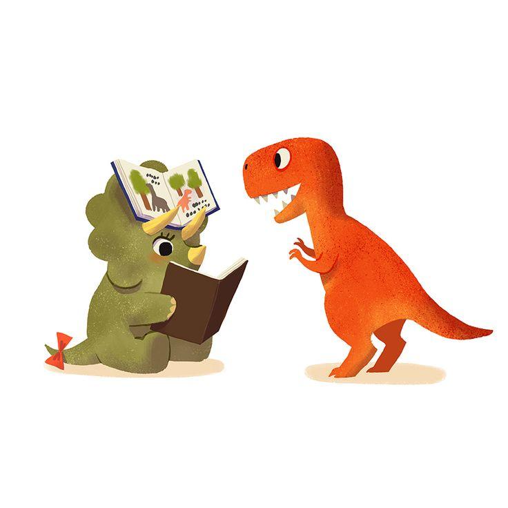 Book Dinosaurs on Behance