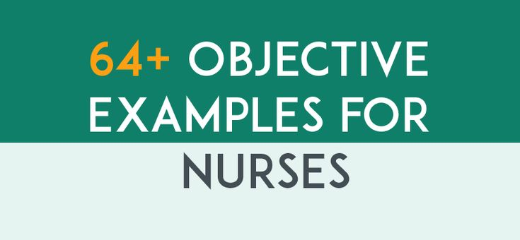 Career objective examples for nurses