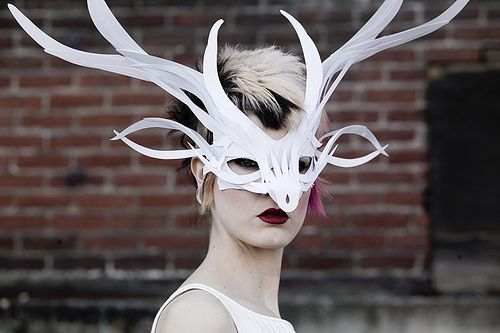 Paper deer mask. So beautiful and feminine. Next time an event calls for a mask.