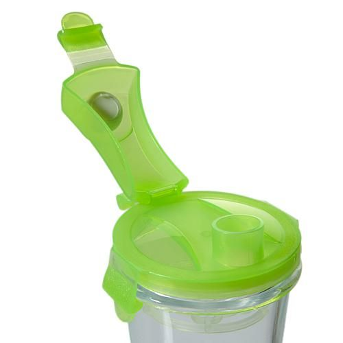 Kinetic Glasslock 14 oz. Green Elements Shaker with Locking Lid 2-pack