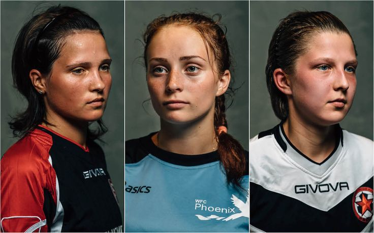 "About the project  ""In the sweat of thy face"" - stage portraits of professional female football players. Main idea of this series is the"