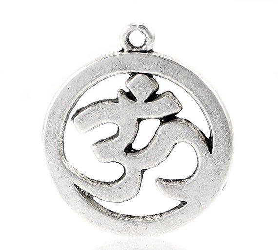 10 Yoga Charms I Love Yoga Pendants Antiqued Silver