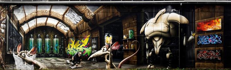 pingl par janine de chamb ry sur street art tags pinterest. Black Bedroom Furniture Sets. Home Design Ideas