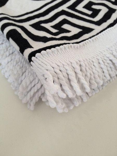 Round Beach Towel 'GREEK SUN'  | Serviette Ronde 'GREEK SUN' 150 cm