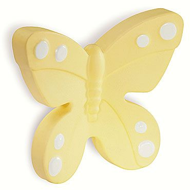 Childrens butterfly cabinet knob made from a rigid plastic!