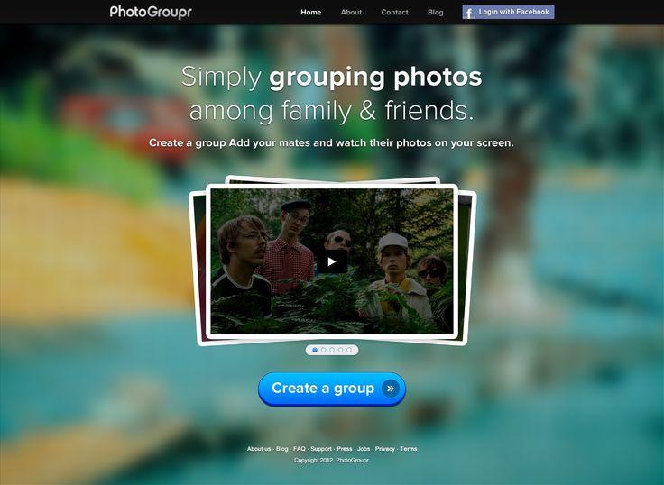 Photogroupr UI, Web Design, UI Design,  Responsive web design