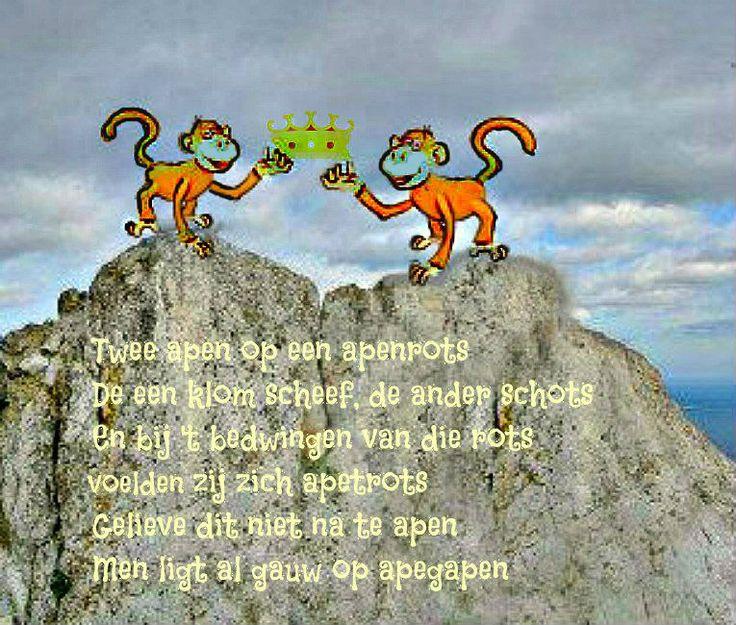 Voor mijn broer John die mij verslag deed van zijn zeemansreizen, o.a. naar de rots van Gibraltar..