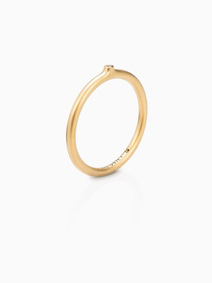 Quite Quiet Transitions Ring Round Closed Slim Fairtrade Gold With Lab  Grown White Sapphire Perspective