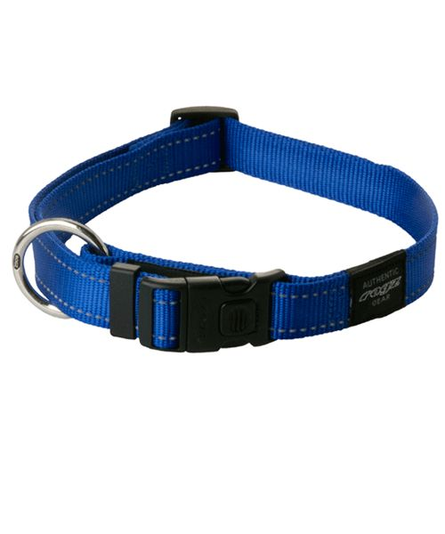 ROGZ UTILITY DOG COLLAR - BLUE. Available from www.nuzzle.co.za