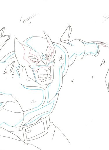 Ultimate Spider-Man Original Marvel Animation Art (Wolverine) C15