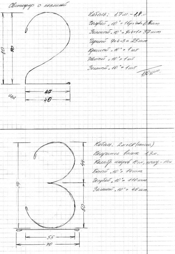"""Цифры: каркасы и изготовление. - Инструкции, Мастер-классы - Клуб """"Воздушные шары"""""""