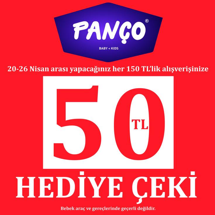 20 - 26 Nisan tarihlerinde yapacağınız her 150 TL alışverişe 50 TL hediye çeki Panço'da! Panço #Espark bodrum katta.