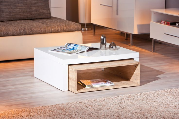 Couchtisch Weiss Hochglanz/ Sonoma Eiche Woody 148-00312 Holz modern Jetzt bestellen unter: https://moebel.ladendirekt.de/wohnzimmer/tische/couchtische/?uid=9528bc43-6460-5563-8f89-e77d70f43b30&utm_source=pinterest&utm_medium=pin&utm_campaign=boards #wohnzimmer #couchtische #tische
