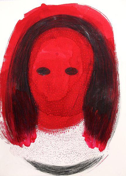 Untitled, drawing, acrylic, crayon, 2013