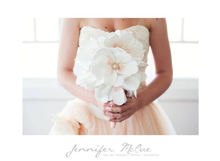 www.whitewillowdesigns.com.au Pastel peach wedding flowers, bridal bouquet