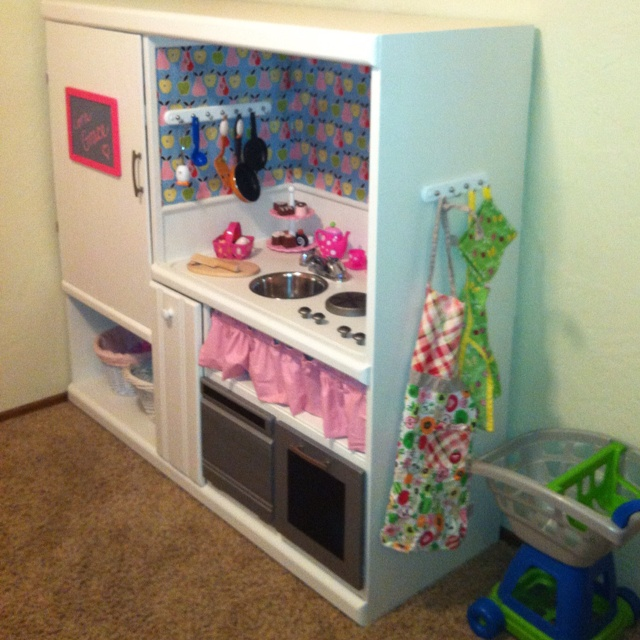 Entertainment Center Kitchen Set: Another Play Kitchen From Old Entertainment Center, Have