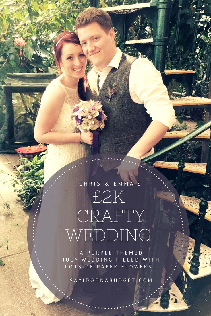 Chris & Emma's 2k Craft packed wedding in July 2015. Real Budget Wedding Feature on sayidoonabudget.com
