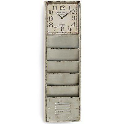 "WholeHouseWorlds Urban Locker 39"" Floor Clock"