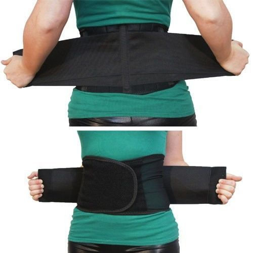 Double Pull Magnetic Lumbar Lower Back Support Belt Brace Pain Relief 5 Sizes US | eBay