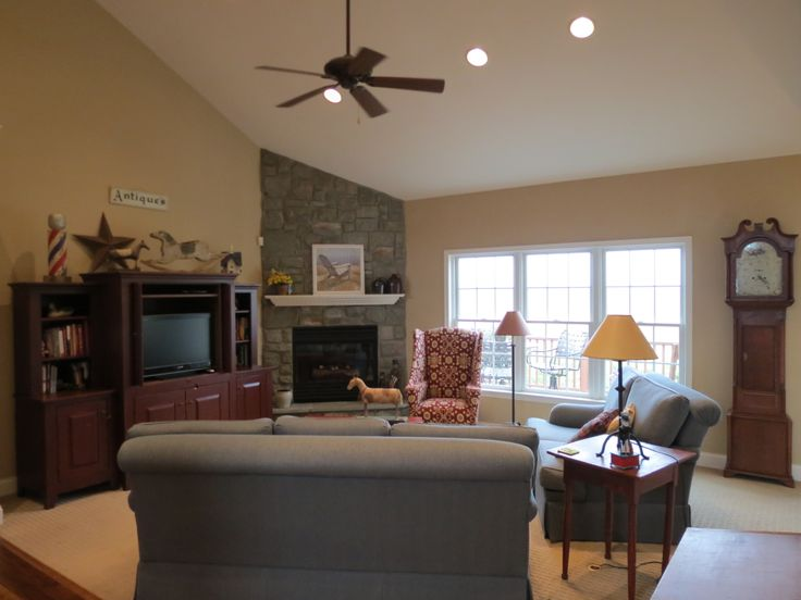 Amazing Living Room With Corner Fireplace. Home Is Located In Palmyra PA  And Is Available