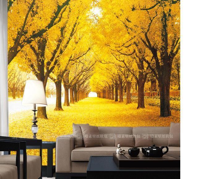E personalizado grande mural wallpaper HD wallpapers murais personalizado estrada de ouro(China (Mainland))