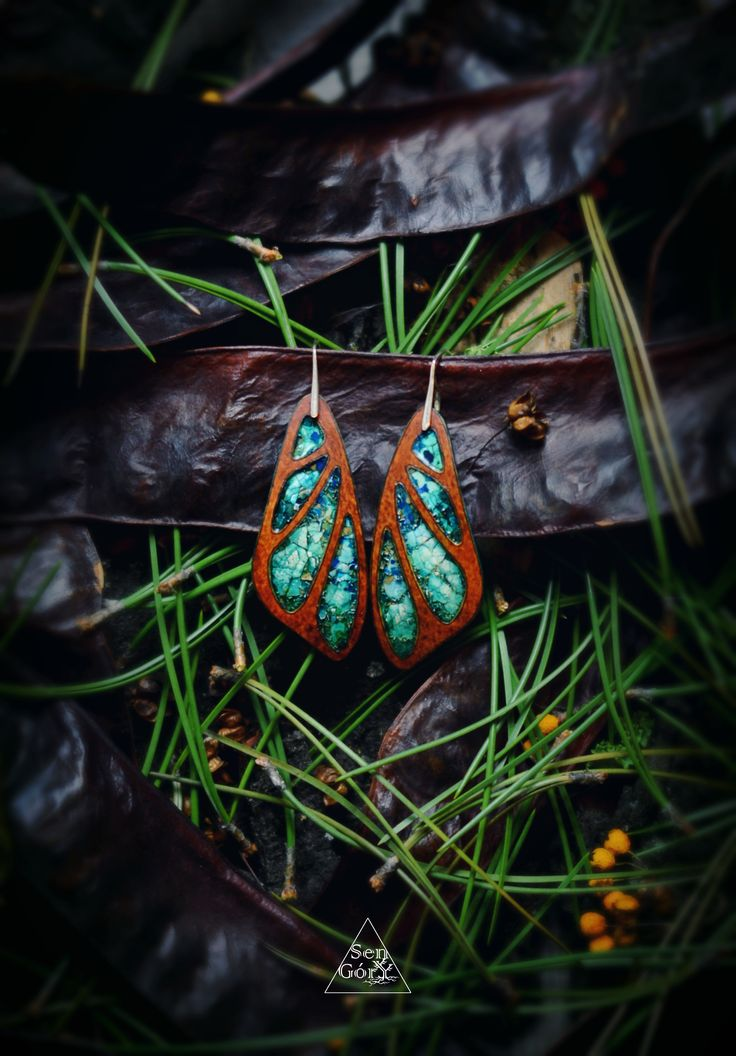 Butterfly wings earrings by Sen Góry. Visit www.sen-gory.com for more boho, organic jewellery from the woods.