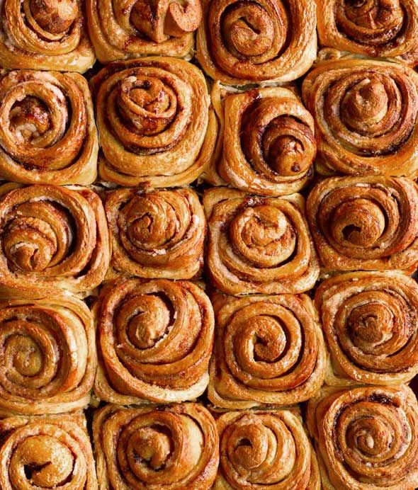 Cinnamon Rolls Recipe (The best homemade cinnamon rolls we've ever made. Oh, and a word to the wise, we first slink off to change into baggy sweatpants whose waistband no longer has any elasticity whatsoever left before eating these. You know, proper cinnamon rolls attire. Guess we're realists and not romantics.)