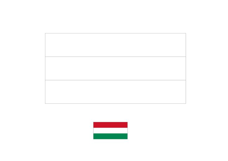 Hungary Flag Coloring Page In 2020 Flag Coloring Pages Coloring