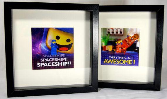 Benny & Emmet Lego Movie Framed Mini Figures