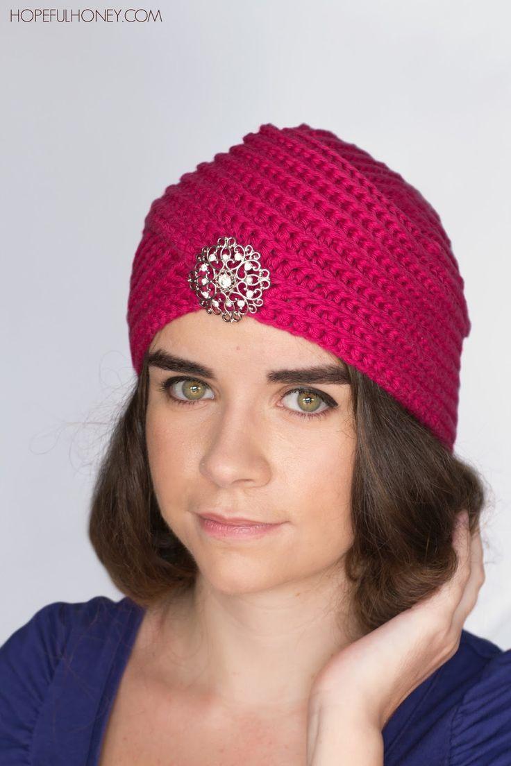 Heather Rose Turban Hat - Free Crochet Pattern
