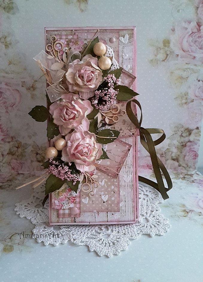 скрапбукинг открытки в розовых тонах квартире