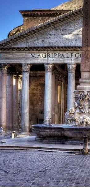Rome Italy :: Piazza della Rotonda :: Fontana del Pantheon & Pantheon √