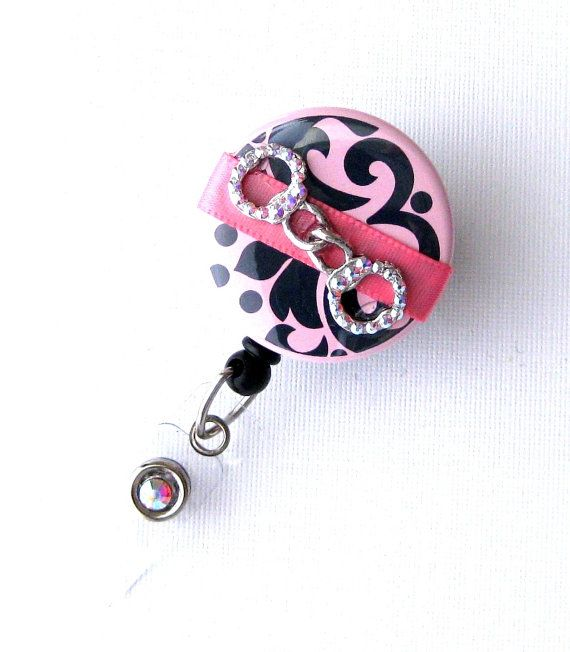 Bling Handcuffs  Correction Officer Badge Clip  by BadgeBlooms, $18.00