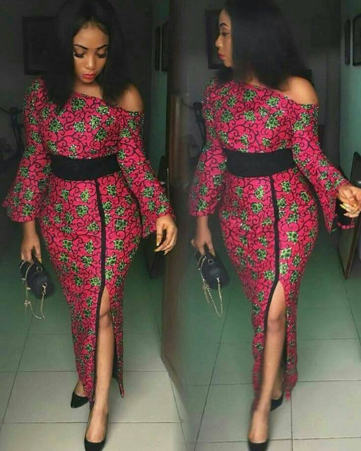 Fashion Dresses 2019: African Clothing/ Ankara Off Shoulder Dress/ Ankara Dress