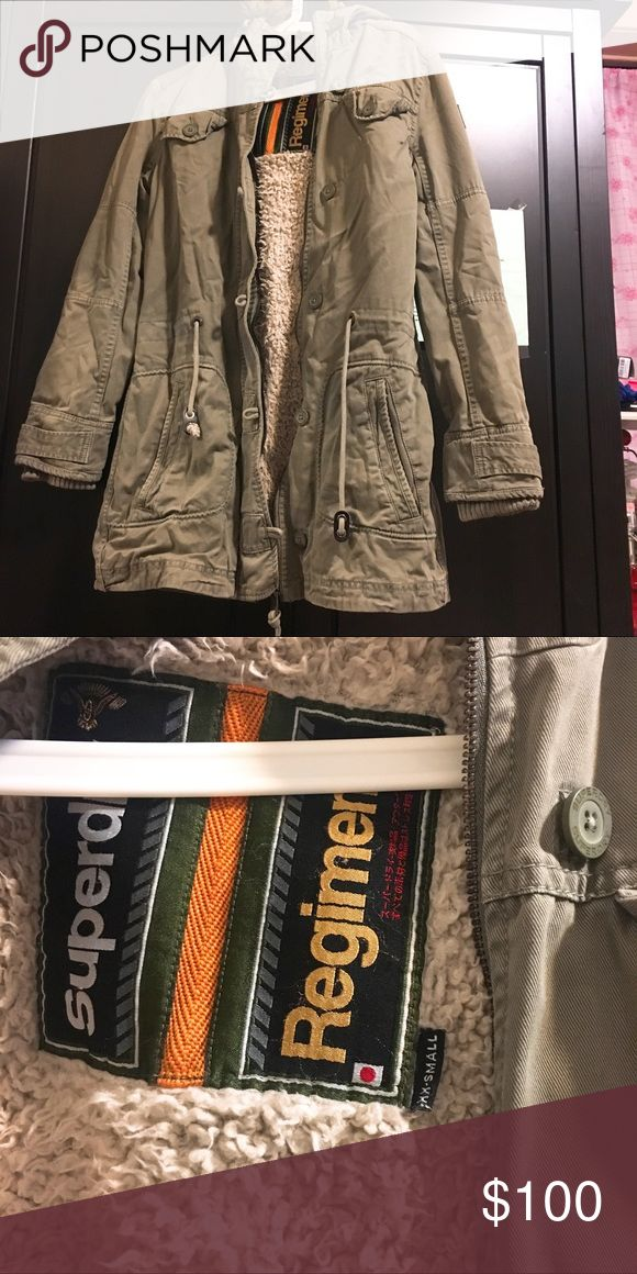 Superdry parka jacket Worn 2-5times only Size XXS runs small  Very warm for winter Will steam before shipping Superdry Jackets & Coats