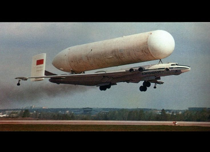 Soviet Bison Bomber Carrying A Buran Booster Tank Aparte