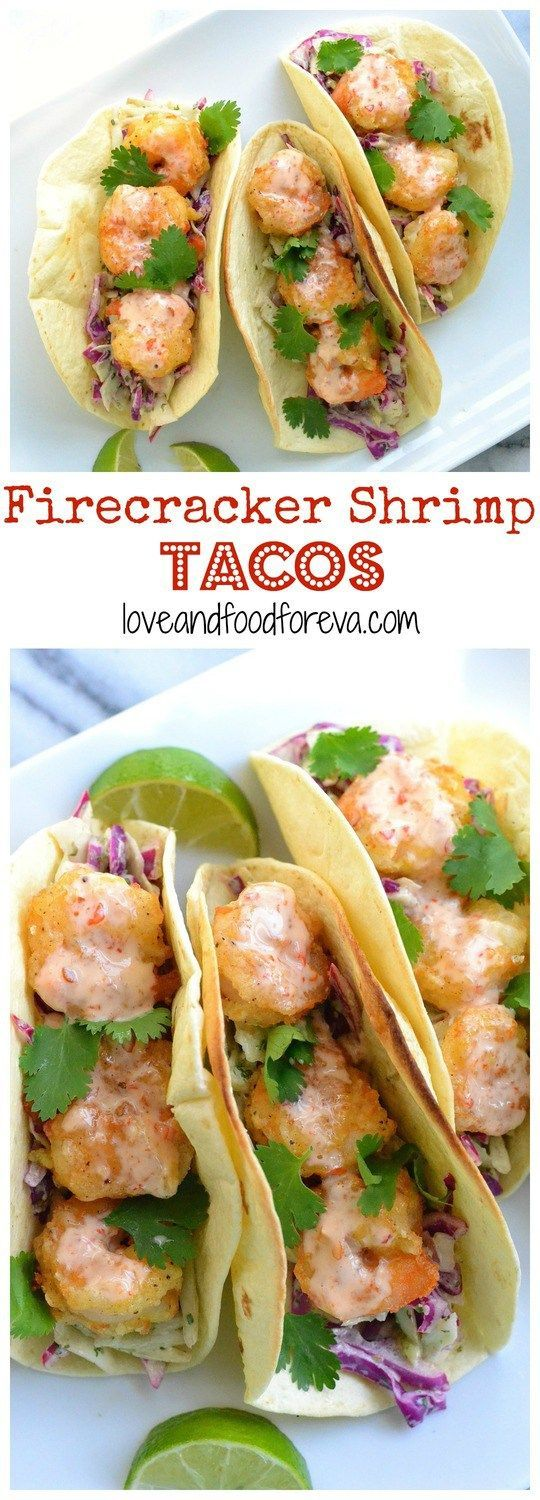 Firecracker Shrimp Tacos: sweet and spicy, crispy shrimp are perfectly…