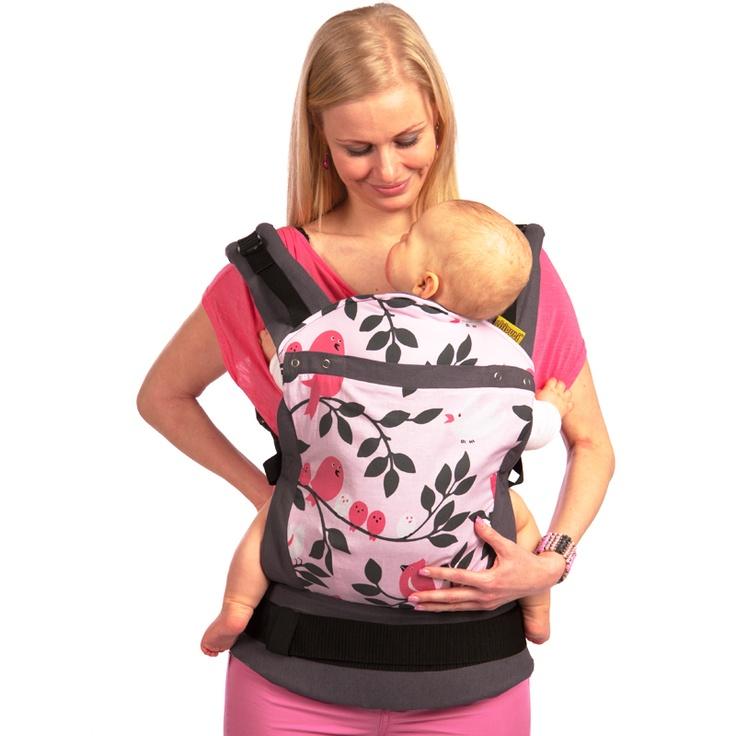 Liliputi® Soft Baby Carrier - Rainbow line - Tweetie Pink Babywearing  More!  #liliputi #liliputistyle #babywearing #babycarrier #softbabycarrier