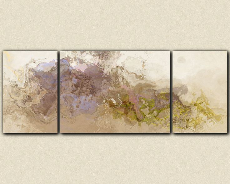 Extra large wall art triptych abstract canvas by FinnellFineArt