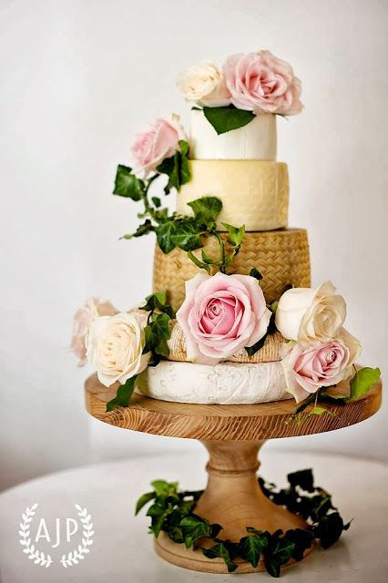 Vintage romantic wedding cheese cake tower