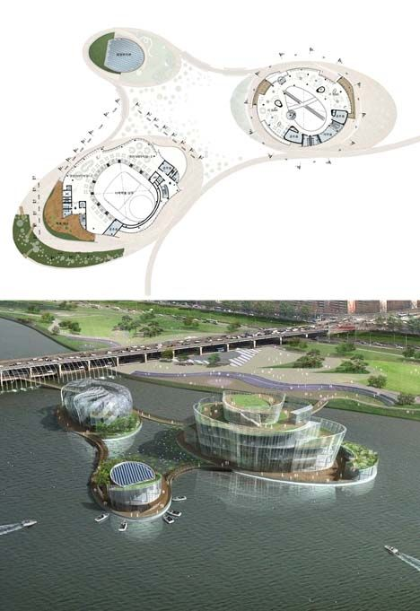 Floating Islands Add 100,000 Square Feet to Downtown Seoul - H Architecture