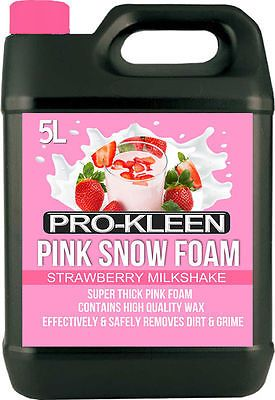 PRESSURE WASHER PINK SNOW FOAM WAX CAR WASH SHAMPOO VALET CLEANING PH NEUTRAL