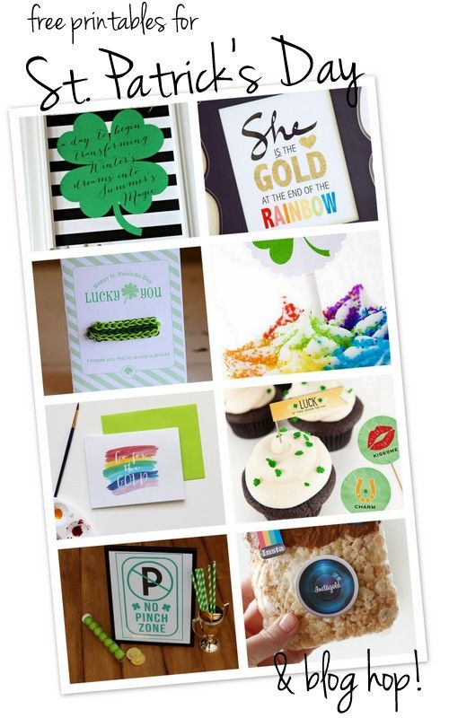 Awesome free printables for St. Patrick's Day from some terrific bloggers | CatchMyParty.com