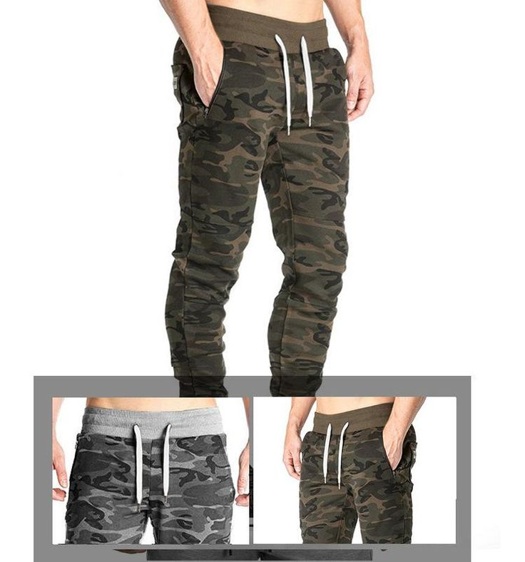 NEW Gyms pants Men's workout bodybuilding clothing casual camouflage sweatpants joggers pants skinny trousers Camo Sweatpants