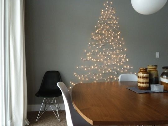 Árbol de pared luces