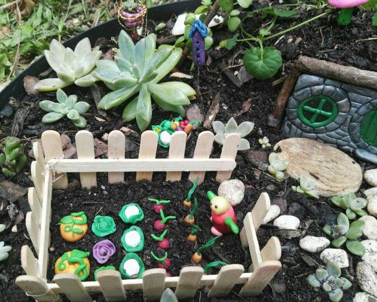 Part of the fairy garden.