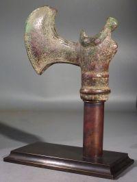 Near Eastern bronze axe head.    Second Millennium BC.